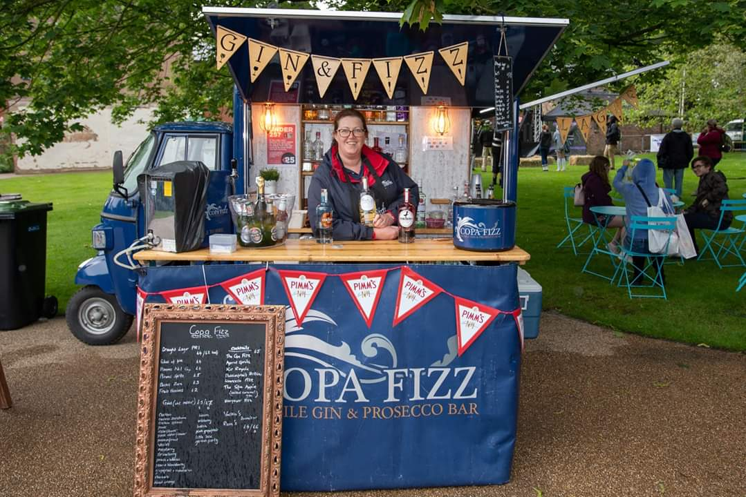 Copa Fizz Lancashire mobile Gin and Fizz bar Gillian Bartlett