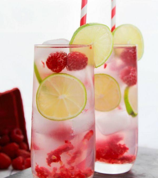 Raspberry and Lime Gin Crush