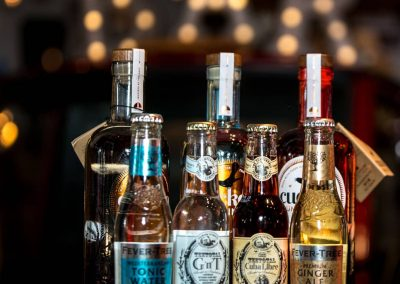 Bottles on the Bar | Gin and Tonics | Temperance drinks