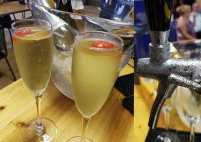 Prosecco Tap and Glasses of Fizz